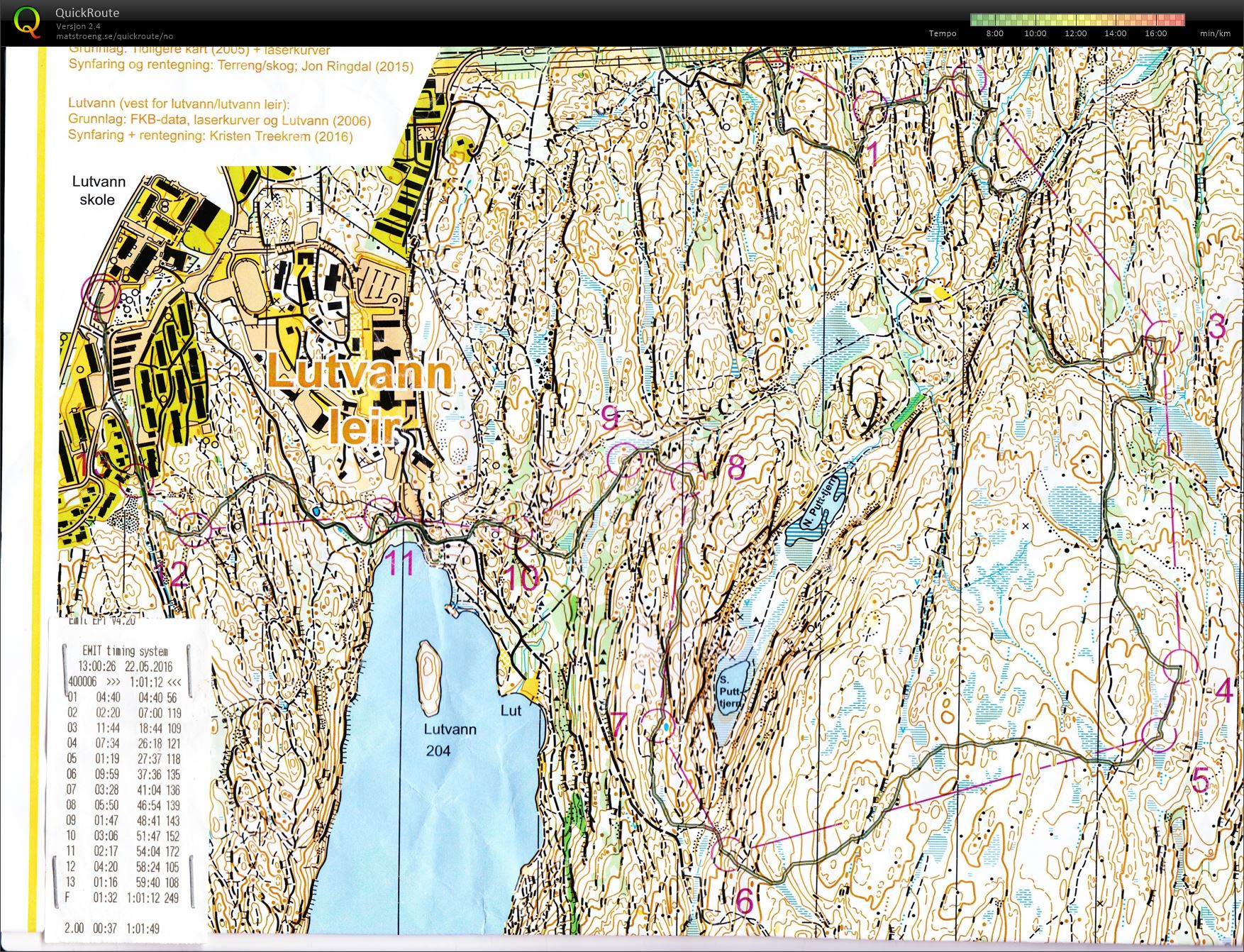 lutvann leir kart Mortens digitale veivalgsarkiv :: Knut Valstads minneløp, Lutvann  lutvann leir kart